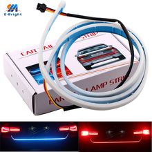 YM E-Bright 1Set 120CM 150CM 335 LED Car Styling Dynamic Streamer Turn Signal Tail Trunk lights LED Warning Light Ice Blue+Red