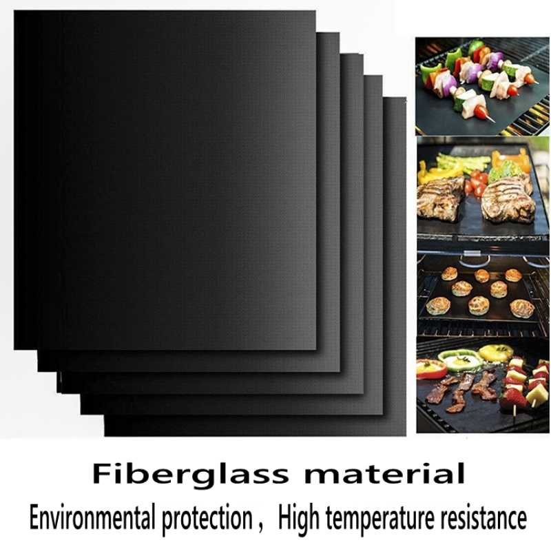 BBQ Grill Mat Barbecue outdoor Baking Non-stick Pad Reusable Teflon Cooking Plate 40 * 30cm For Party PTFE  Grill Mat Tools New