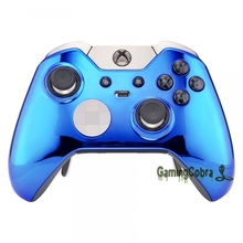 Chrome Blue Design Front Housing Shell Faceplate for Xbox One Elite Controller(China)