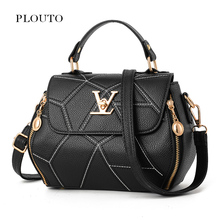 Plouto Women Shoulder Bags Ladies Handbag Messenger Crossbody PU Bags Random Stripe Small Lady Top Handle Bags for Women(China)