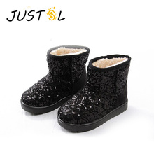 2017 new children's winter snow boots boys girls sequins keep warm safty quality children boots fashion shoes for kids