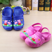 Child Sandals Slippers Hole Shoes Boys Girl Summer Beach Anti-slip Peppa Pig Cartoon Baby Garden Shoes Fashion Casual Sneakers(China)