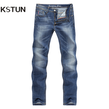 KSTUN Men's Jeans Summer Thin Casual Slim Skinny Jeans Stretch Denim Pants Trousers Classic Cowboys Young Man Jean Male Homme 38(China)