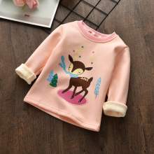 Buy BibiCola Baby Girls Outerwear Autumn Winter Kids Girls Cartoon Warm Coats Children Girls Long Sleeve Fleece Velvet Shirt Outfits for $8.11 in AliExpress store