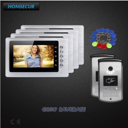 "HOMSECUR 7"" Video Door Intercom System with Mute Mode for Home Security for House/ Flat(China (Mainland))"