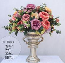 HI-Q 1 large bouquet vintage 12 forks oil painting hibiscus roses artificial hibiscus penoy silk flowers free shipping(China)