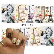 1pc Sexy Women Nail Art of Water Transfer Full Nail Sticker Nail Decorations for Manicure Patch DIY SASTZ193-197