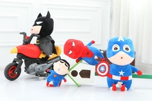 1pcs 32cm  cute Kawaii Crayon Shinchan ofThe Avengers Superman Spiderman Batman fit Stuffed plush toy doll  Birthday Gift