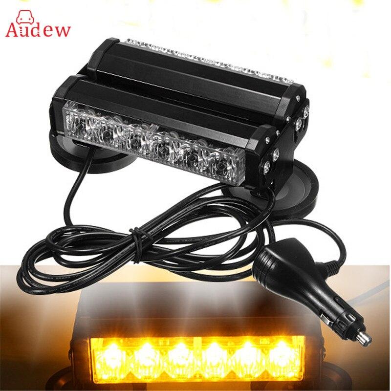 12LED 36W 12V Strobe Warning Light Bar Trailer Marker Daytime Running Lights Amber Led Emergency Roof Work Light<br>