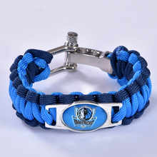 Dallas Basketball Team Paracord Bracelet Survival Bracelet, Drop Shipping! 6Pcs/lot!