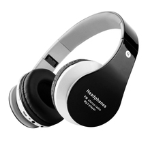 Wireless Bluetooth Stretchable Headphones Stereo Music Earphones Support TF Card FM Radio for Computer Iphone Android Phones