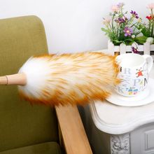 Home car 50CM Magic Anti Static Soft Microfiber Cleaning Duster Brush Dust Cleaner Bamboo Handle Pure wool can not lose hair