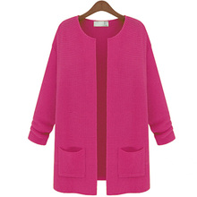 Women Knitwear Long Sleeve Wool Cardigan Sweater Coat Jacket