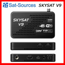 CCCam Newcamd DVB-S2 Receiver SKYSAT V9 support WiFi 3G Youtube PVR PowerVu Biss Full HD MPEG-4 Set Top Box(China)