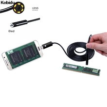 Kebidu 2IN1 USB Endoscope Android Camera 2M/5M/10M Snake Tube Pipe Waterproof Phone PC Endoskop Inspection Borescope Mini Camera(China)