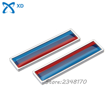 Car Styling 2pcs Metal Decal Accessories Flag of Three Color Side Door Sticker For BMW E90 E91 E92 F07 F13 F12 F25 F26 F48 F15