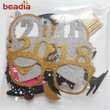 21 Pieces of Gold and Silver Powder Set Creative Funny Photo Props Girl Birthday Party Decoration Supplies(China)