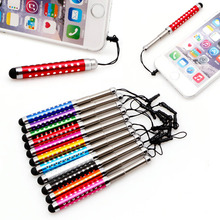OOTDTY Retractable Capacitive Diamond Stylus Touch Screen Pen For iPhone iPad Tablet PC(China)