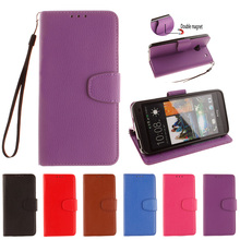Double Magnet Flip Case for HTC One M7 M 7 Dual Sim 801e 801 e Photo Frame Cover Flip Phone Leather Case for HTC One1 802w 802 w(China)