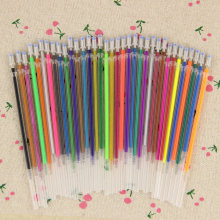 36PCS/set Flash Gel Pen Refill Color Full Shinning Refill For The Child'S Drawing Office Stationery 36 Colors(China)
