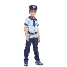 Boys Police Clothing Set Halloween Cosplay Costumes Cops Performance Wear Kids Kotwal Uniform Children Stage Clothes Set