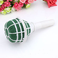 1 PCS Foam Bouquet Holder Accessory Tower Vase Handle Bridal Floral Wedding Flower Holder Decoration DIY(China)