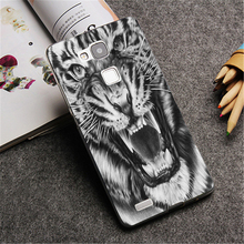 Grumpy tiger painting Hard phone Case Cover for Huawei P8 Lite P8 P9 P9 Plus & Mate 7 8 fashion Down Design