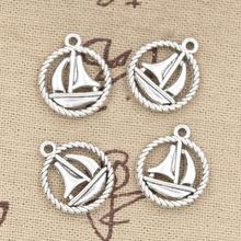 20pcs Charms sailing ship 16mm Antique pendant fit,Vintage Tibetan Silver,DIY for bracelet necklace