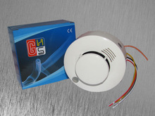 5 pcs /lot CE Photoelectric Smoke Detector Sensor Wired Smoke alarm fire alarm Free shipping