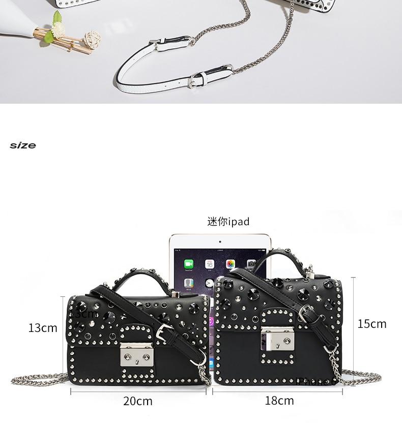 Fashion Women Messenger Bag New Brand Genuine Leather Female Shoulder Bag Luxury Diamond Woman Handbags Strap Bags White (9)