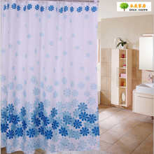 Feiqiong Brand 180*180cm 1Pcs Peach blossom Waterproof Shower Curtains100% Polyester Home Bathroom Curtain