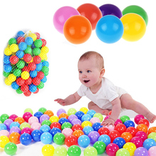 50pcs/lot Water Pool Sports Float Entertainment Thickened Colorful Soft Plastic Ocean Fun Ball Balls Kids Play Fun