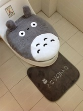 3 piece/set Super soft Shu Velveteen thickening toilet potty sets toilet seat cover Totoro Cartoon Warm Close Stool Cushion Mat