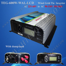 New 600W On GRID TIE INVERTER, 3phase AC 22-60V to AC190-240volt for wind turbine generator(China)