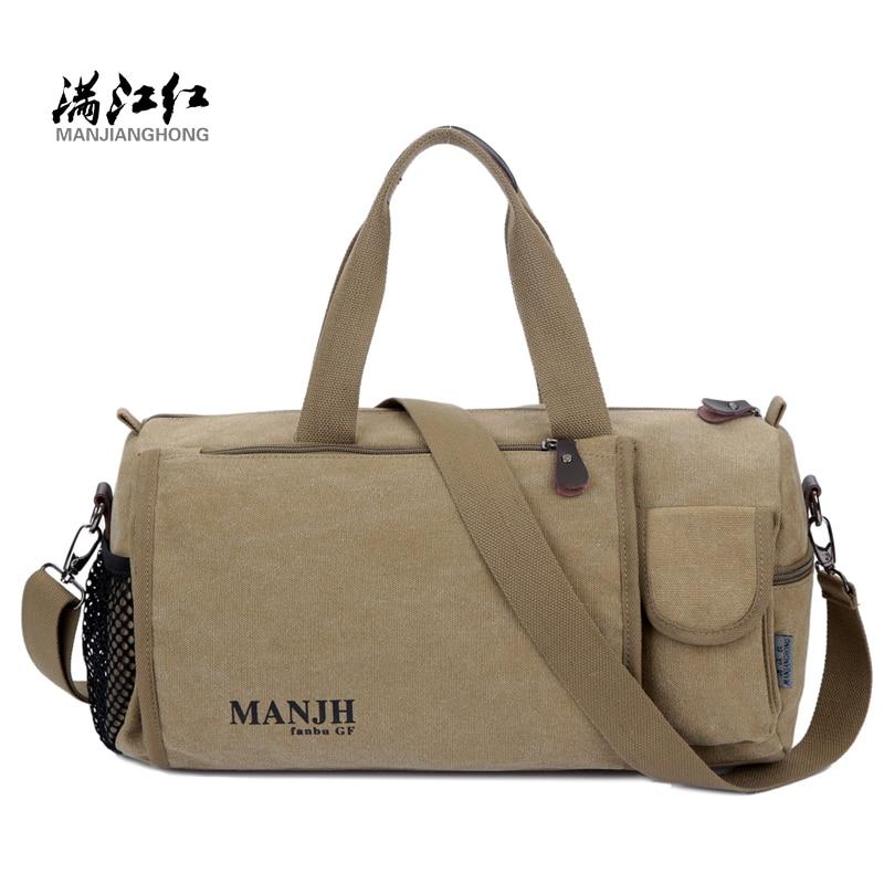 Manjianghong National Style Man Canvas Bag Big Capacity Travel Bag Messenger Bag Man Shoulder Bag 1275<br>