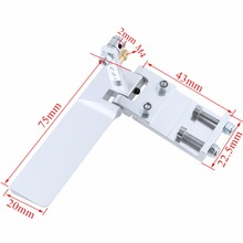 Aluminum Rudder 75mm Long Width 45mm with Water Pickup Suction Inlet For Electric / Gas Powered RC Boat Replacement CNC(China)