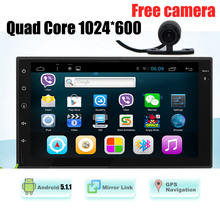 Quad core android 5.1 Full - Touch car Tablet double 2 din GPS car stereo Radio VW / todyota / mazad car Audio No-DVD MP3 player()