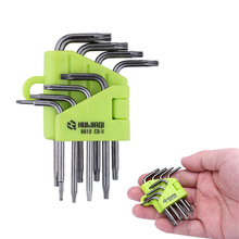 8pcs Star Torx Wrench Spanner Set T5 T6 T7 T8 T9 T10 T15 T20 Box End Wrench Screwdriver Bits Professional Hand Tools(China)