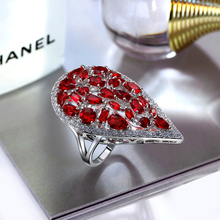 Heart Shape 5 Colors Fashion Women Finger Ring Premium Quality Cubic Zirconia Prong Setting Wedding Party CZ stone Rings(China)