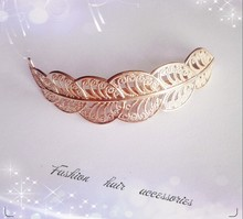 Timlee H056 Free shipping Fashion Hair Accessary Palace Hollowed Out Pattern Barrettes  Grace Fashion Leaf Hair Clip TLW