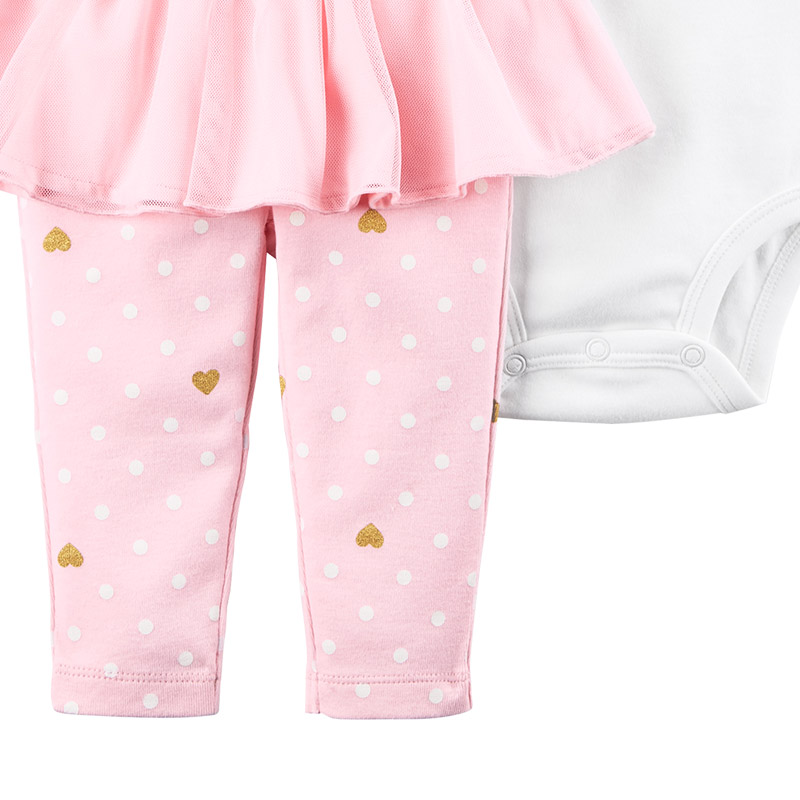2 pcs Flutter manches Body & Tutu Pantalon vêtements Ensemble de Carter bébé Fille Printemps Été 121I361 13
