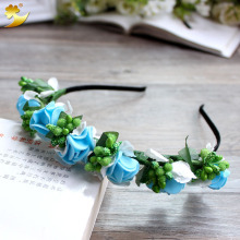 XinYun lovely fancy headband flower hair band Flower Crown  Headwear Fashion fabric flower hair band Girl Hair Accessories