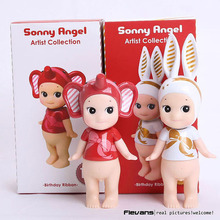 Anime Cartoon Sonny Angel Artist Collection 10th Anniversary Brithday Ribbon PVC Action Figures Toys 2pcs/set  13~16cm