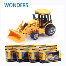 Manufacturers specials Diecast cars, 1:64 alloy construction vehicles, bulldozer, excavators die cast mini car series(China)