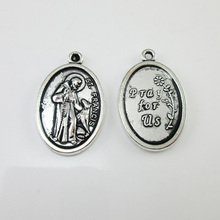 100pcs of St Francis Pray For Us Medal Pendant