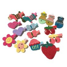 15PCS girl Hair Clips Leaves Princess Hairband Buckle children hair accessories kids Knit Hairpins bandage Cartoon Headdress(China)