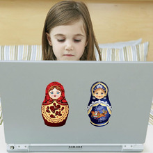 Removable Wall Decals Stickers Window Door Desk Refrigerator Decoration Russian Doll Stickers TB Sale(China)