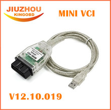 Promotion!! Cheapest Price MINI VCI V10.10.018 Single Cable For Toyota Support for Toyota TIS OEM Diagnostic Software Tool(China)