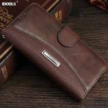 For Sony Xperia XA Case Luxury IDOOLS PU Leather Wallet Cover Dirt Resistant Mobile Phone Bags Cases for Sony Xperia XA 5.0 Inch