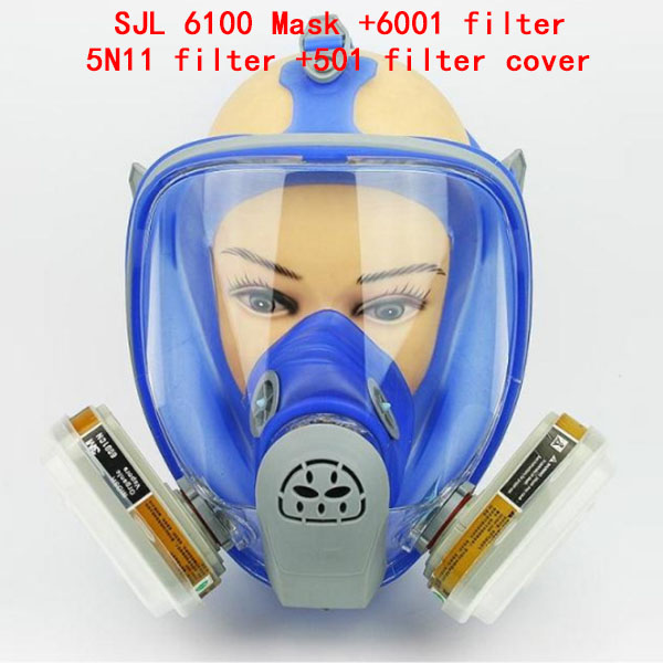 high quality 6100 gas mask With 2091/6001/5N11/501 filter Modular respirator mask against Toxic gas dust respirator gas mask<br>